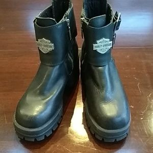 Women's SZ 8 black leather Harley-Davidson Boots